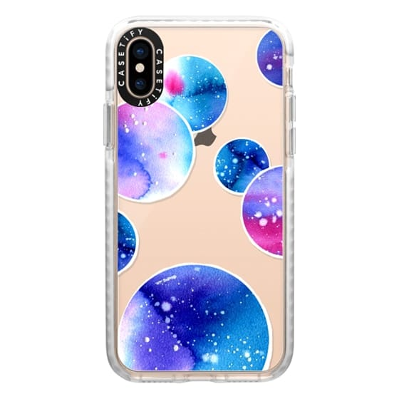 iPhone XS Cases - Watercolor space planets 3. Transparent.