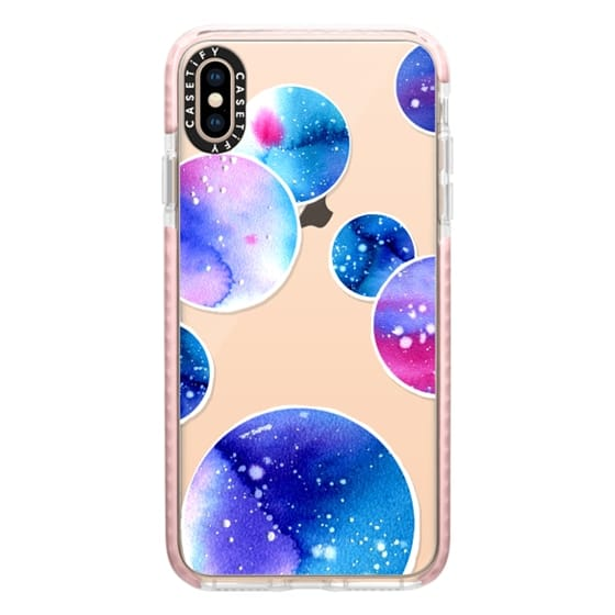 iPhone XS Max Cases - Watercolor space planets 3. Transparent.