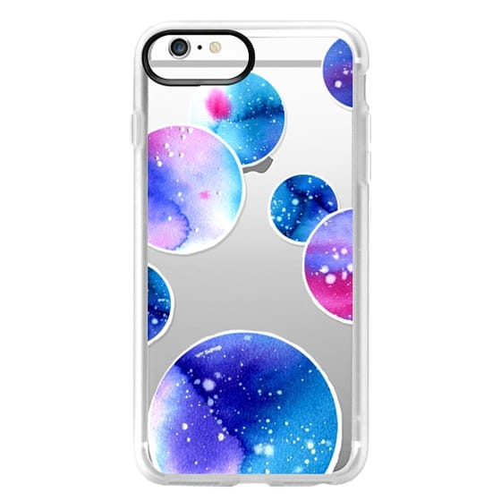 iPhone 6 Plus Cases - Watercolor space planets 3. Transparent.