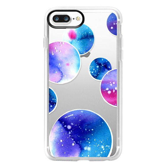 iPhone 7 Plus Cases - Watercolor space planets 3. Transparent.