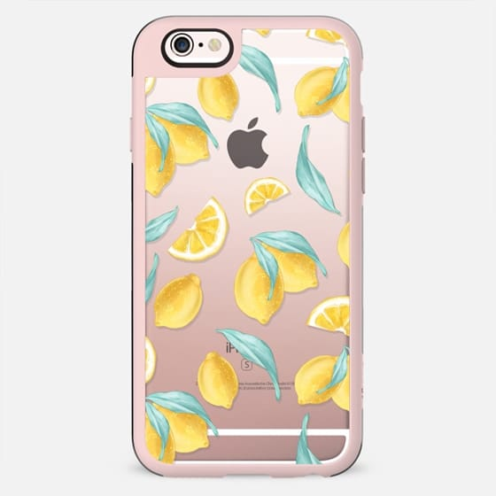 Lemons Lavender Spring Summer Transparent Lemonade Cute Pastel Mint Purple Yellow - New Standard Case