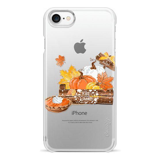 iPhone 6s Cases - Pumpkin Pie Thanksgiving Cute Fall Autumn Gold Glitter Transparent Pattern Hot Chocolate Hot Cocoa