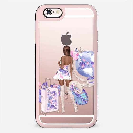 Summer Vacation Glamour Beach Tropical Fashion Chic Transparent Ted Baker Suitcase Cute Pastel - New Standard Case