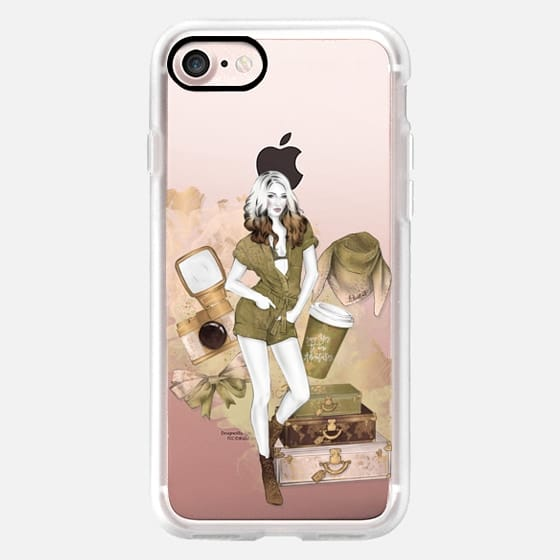 Travel Girl Fashion Illustration Trip Adventures Girly Pastel Peach Olive Greenery Pantone 2017 Photography Coffee -