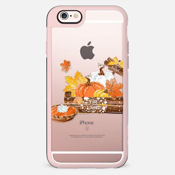 Pumpkin Pie Thanksgiving Cute Fall Autumn Gold Glitter Transparent Pattern Hot Chocolate Hot Cocoa - New Standard Case