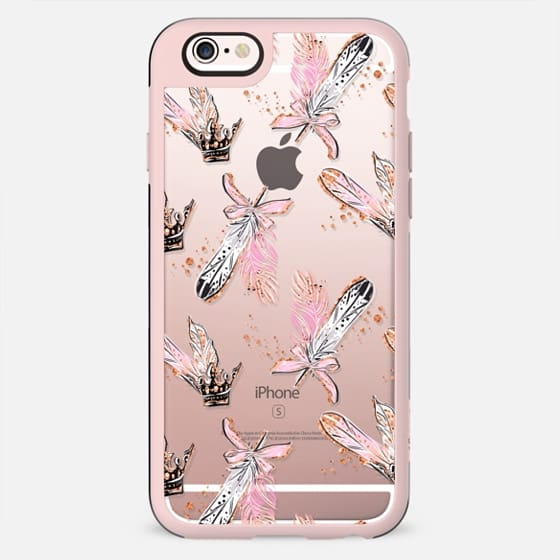 Swan Lake Princess Swan Black Swan Transparent Gold Glitter Feathers Crown Family Couple Cute Sweet - New Standard Case