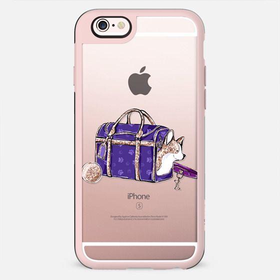 Corgi Puppy Dog Transparent Cute Pet Lover Pattern Gold Violet Purple - New Standard Case