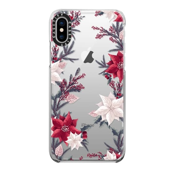 Christmas Iphone X Case.Snap Iphone X Case Christmas Transparent Floral Xmas New Year Pattern Retro Vintage