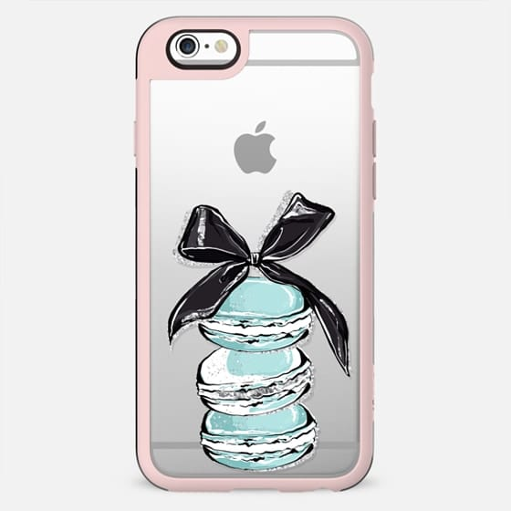Cat Kitty Kitten Pastel Mint Transparent Pattern Breakfast at Tiffany's Coffee Macarons Paris Classy Glam