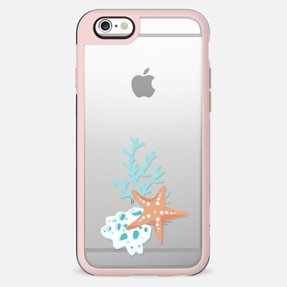 Cute Sea Underwater Transparent Pattern Seashell Seahorse Fish Octopus Dolphin Mint Pastel Baby Nursery