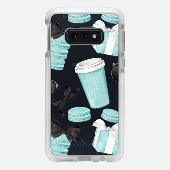 Samsung Galaxy / LG / HTC / Nexus Phone Case - Mint Fashion Illustration Transparent Breakfast at Girly Mint Black Classy Glamour Watercolor Coffee