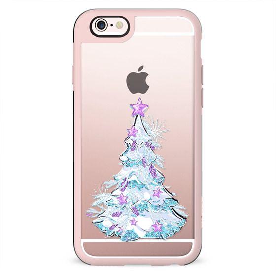 Cute Winter Teddy Bear Pinguin Transparent Glitter Christmas Tree Xmas Toys Winter Accessories Snowflakes Snow
