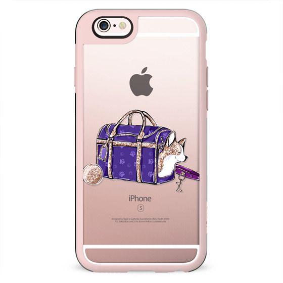 Corgi Puppy Dog Transparent Cute Pet Lover Pattern Gold Violet Purple