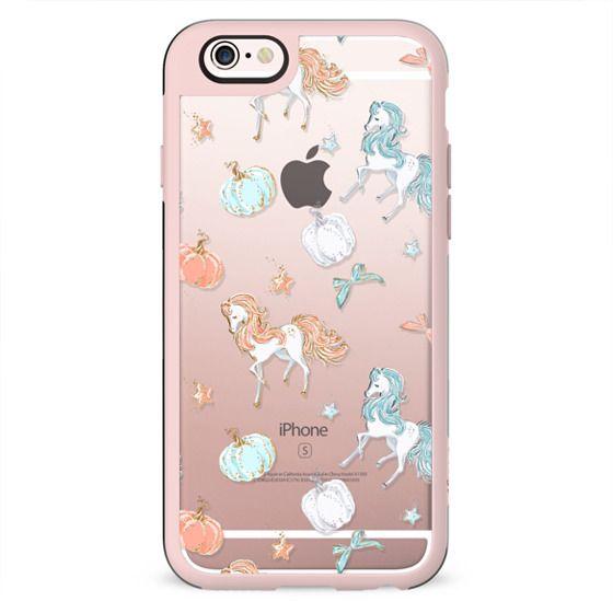 Princess Cinderella Transparent Glitter Cute Fashion Fairy Tale Illustration Pumpkin Fall Floral Pattern