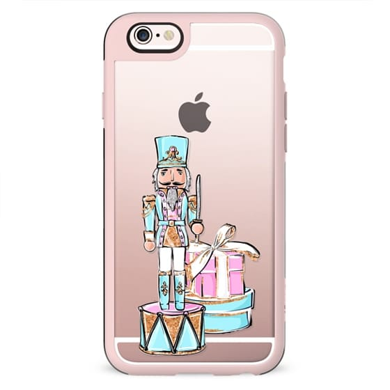 The Nutcracker Transparent Pattern Pastel Cute Christmas Winter Snowflakes Snow African American Fashion Girl Illustration Christmas Tree Gingerbread Cookies