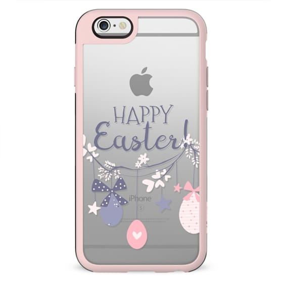 Cute Bunny Easter Spring Transparent Pastel Pattern Eggs Nursery Neutral Baby