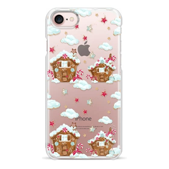 iPhone 6s Cases - Cute Christmas Xmas Transparent Pattern Gingerbread Cookies Hot Cocoa Chocolate Cozy Gold Glitter