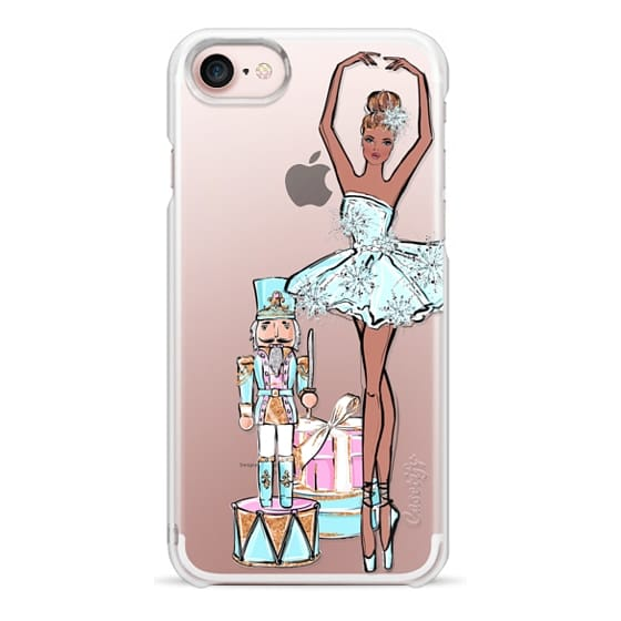 iPhone 6s Cases - The Nutcracker Transparent Pattern Pastel Cute Christmas Winter Snowflakes Snow African American Fashion Girl Illustration Christmas Tree Gingerbread Cookies