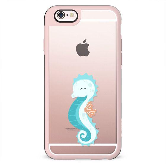 Cute Sea Underwater Transparent Pattern Seashell Seahorse Fish Octopus Dolphin Mint Pastel Baby Nursery