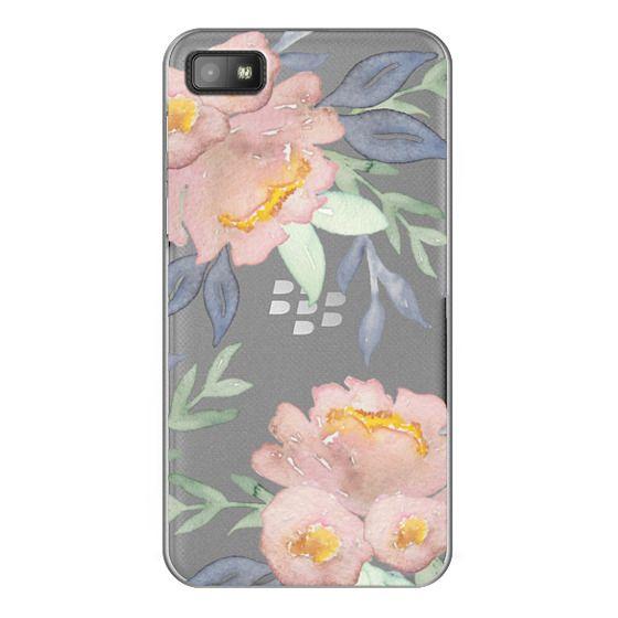 Blackberry Z10 Cases - Moody Watercolor Florals