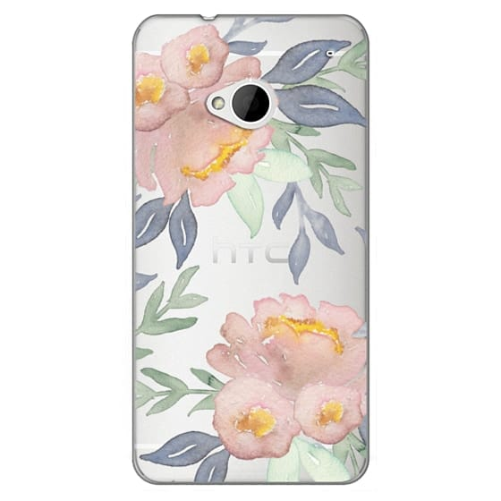 Htc One Cases - Moody Watercolor Florals