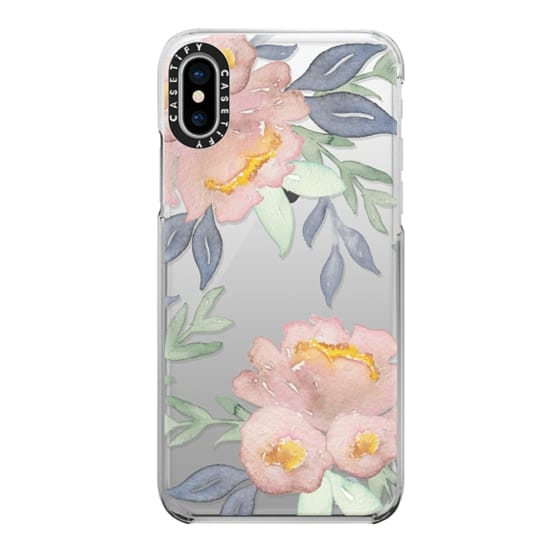 iPhone X Cases - Moody Watercolor Florals