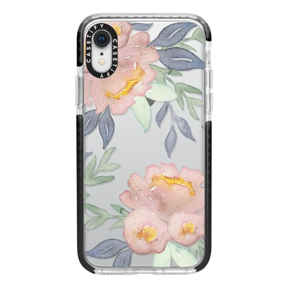 iPhone XR Cases - Moody Watercolor Florals