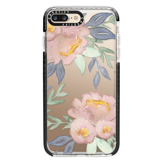 iPhone 7 Plus Cases - Moody Watercolor Florals