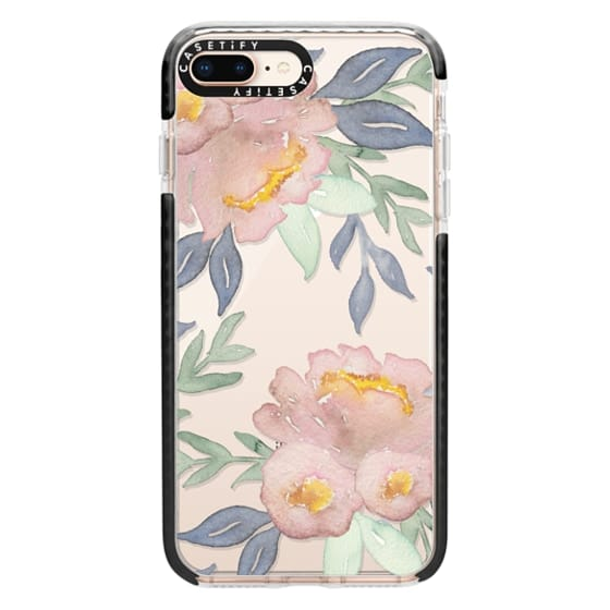 iPhone 8 Plus Cases - Moody Watercolor Florals