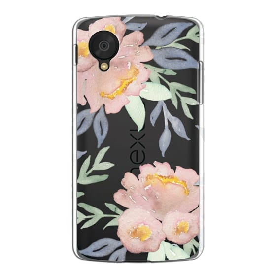 Nexus 5 Cases - Moody Watercolor Florals