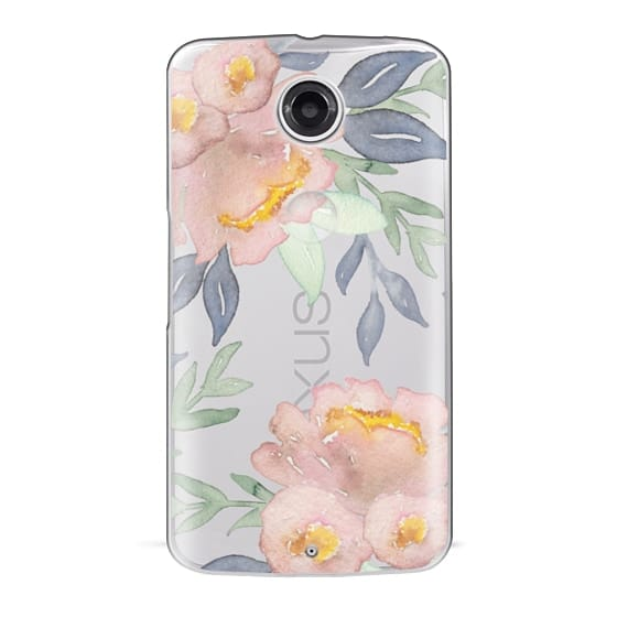 Nexus 6 Cases - Moody Watercolor Florals