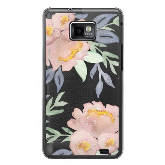 Samsung Galaxy S2 Cases - Moody Watercolor Florals