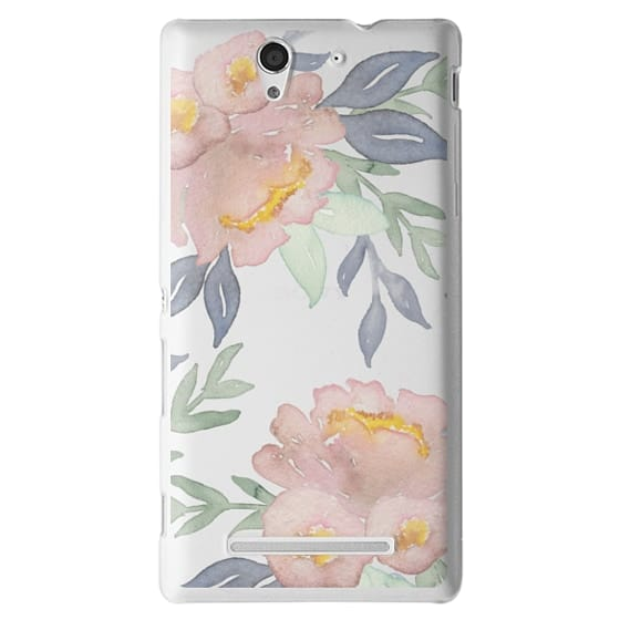 Sony C3 Cases - Moody Watercolor Florals