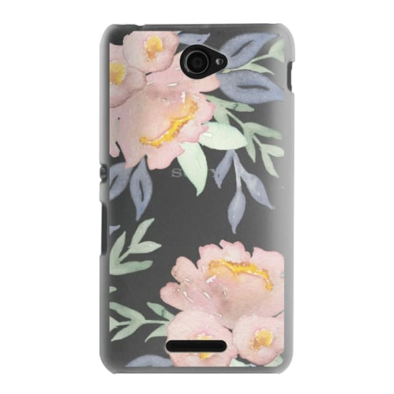Sony E4 Cases - Moody Watercolor Florals