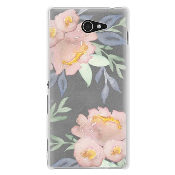 Sony M2 Cases - Moody Watercolor Florals