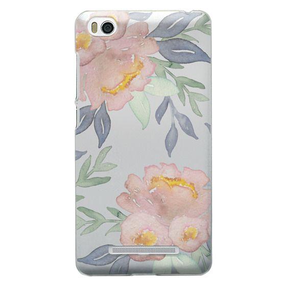 Xiaomi 4i Cases - Moody Watercolor Florals