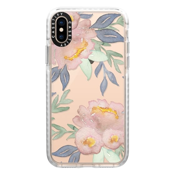 iPhone XS Cases - Moody Watercolor Florals
