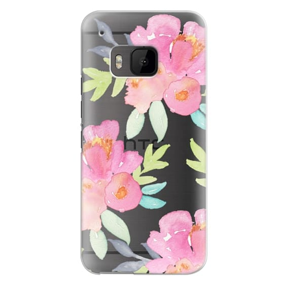 Htc One M9 Cases - Summer Watercolor Florals