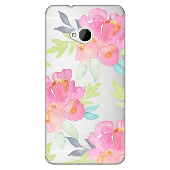 Htc One Cases - Summer Watercolor Florals