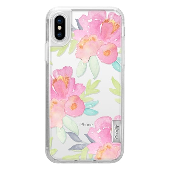 iPhone X Cases - Summer Watercolor Florals