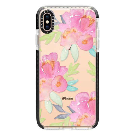iPhone XS Max Cases - Summer Watercolor Florals