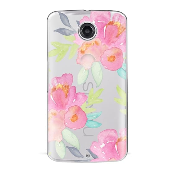 Nexus 6 Cases - Summer Watercolor Florals