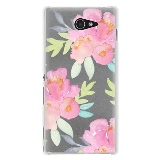 Sony M2 Cases - Summer Watercolor Florals