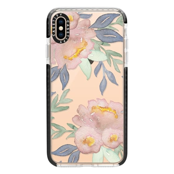 iPhone XS Max Cases - Moody Watercolor Florals