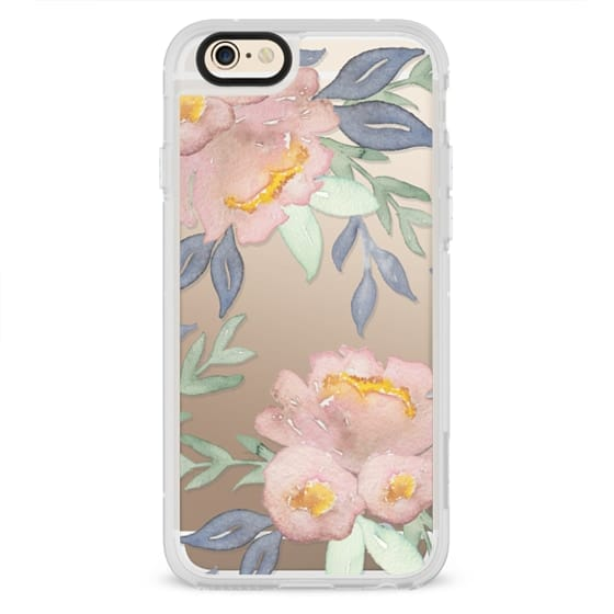 iPhone 6 Cases - Moody Watercolor Florals