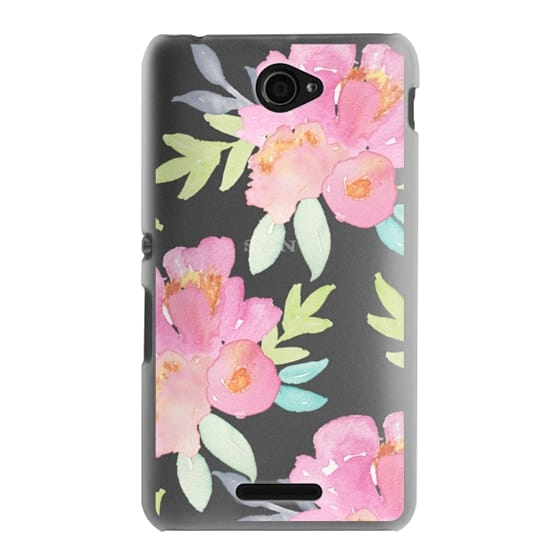 Sony E4 Cases - Summer Watercolor Florals