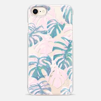 iPhone 8 ケース Polka and Pure Oasis Blues by Dash and Ash