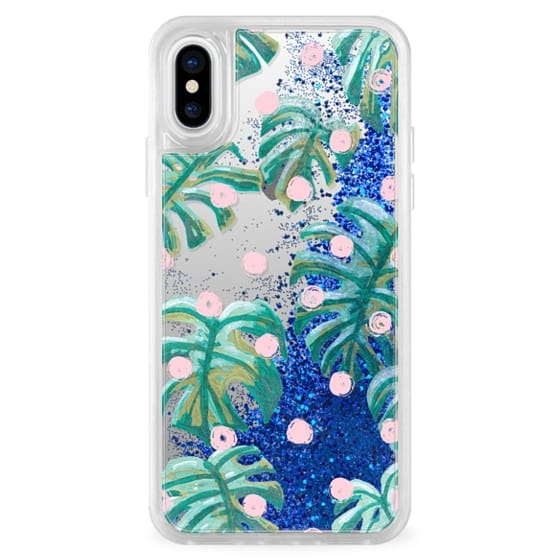 iPhone X Cases - Pure Oasis in Polka by Dash and Ash