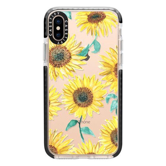iPhone XS Cases - Sunflowers