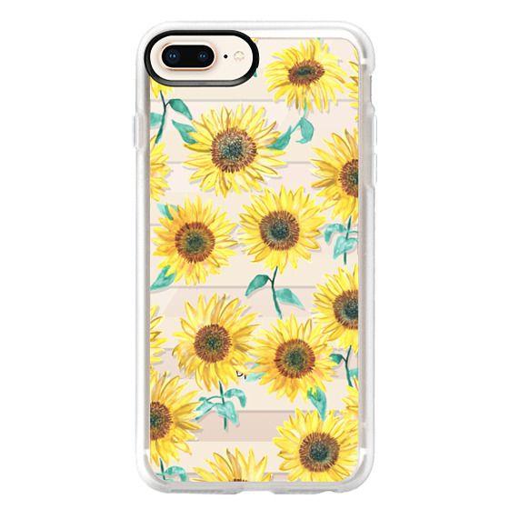 iPhone 8 Plus Cases - Sunny Sunflower